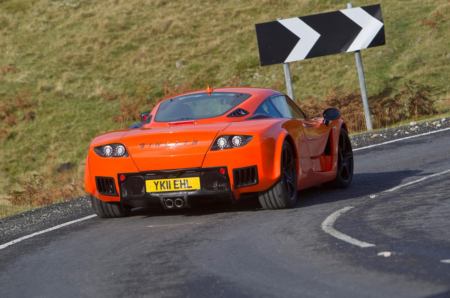 Ginetta G60 rear cornering
