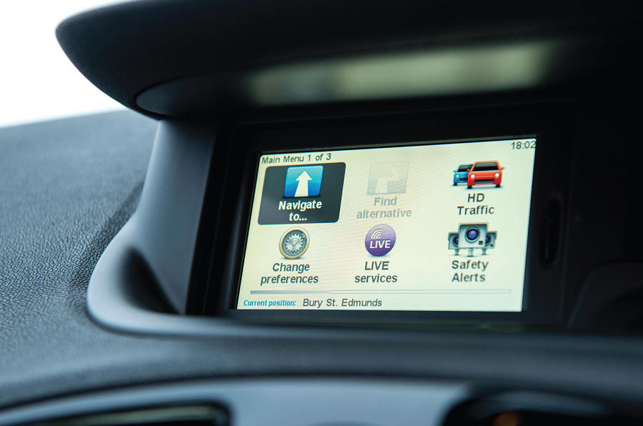 Renault Grand Scenic infotainment system