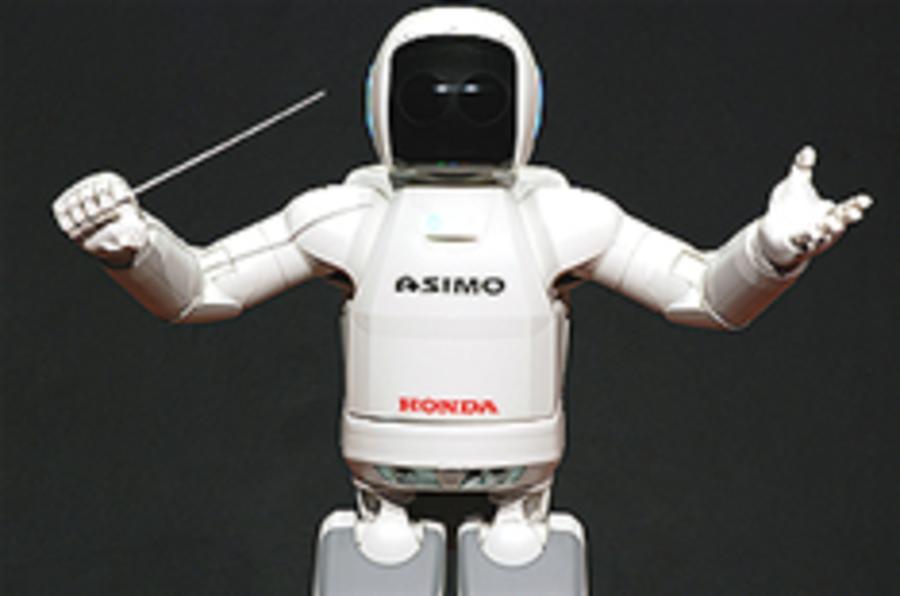Honda ASIMO conducts orchestra