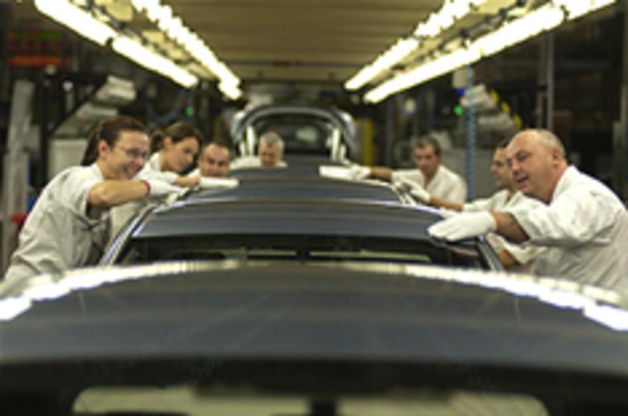 Car production down 59 per cent