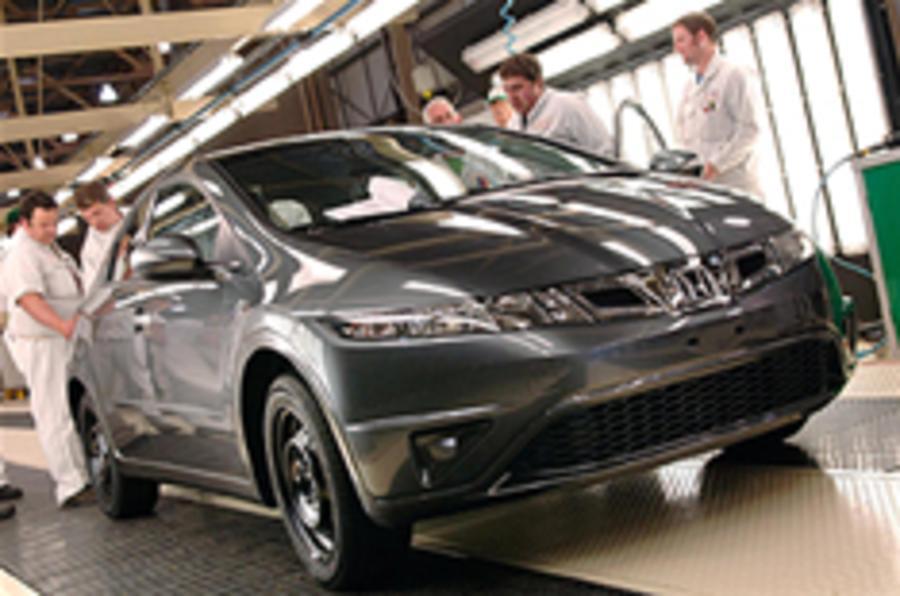 UK car sales down, but better