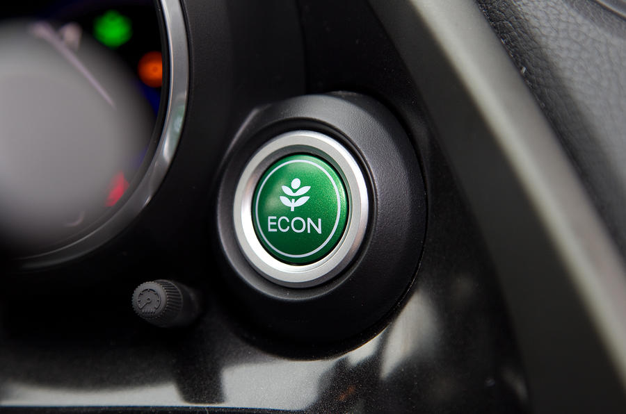 The Econ button to promote fuel-efficient driving in the Honda Civic