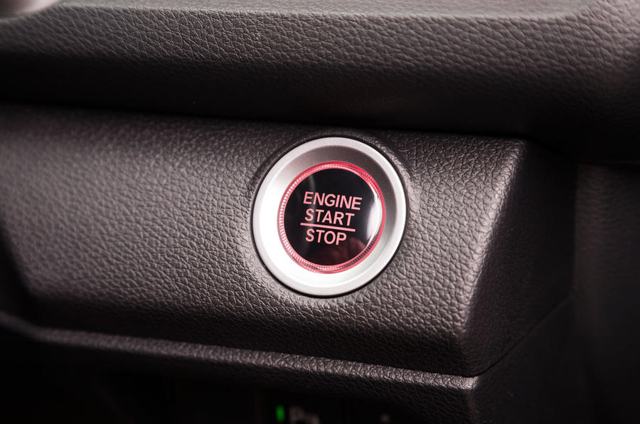 Honda Civic Type R ignition button