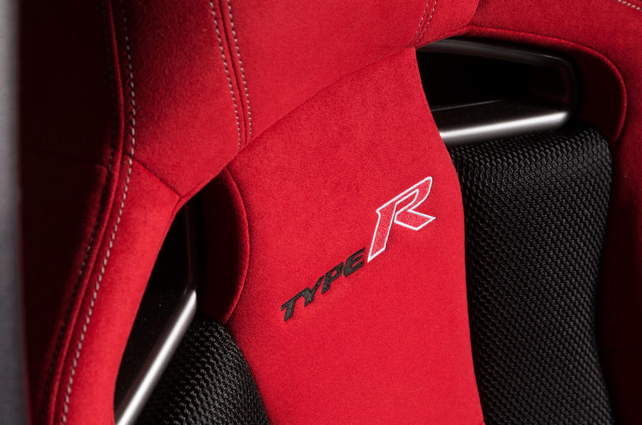 Honda Civic Type R seat badging