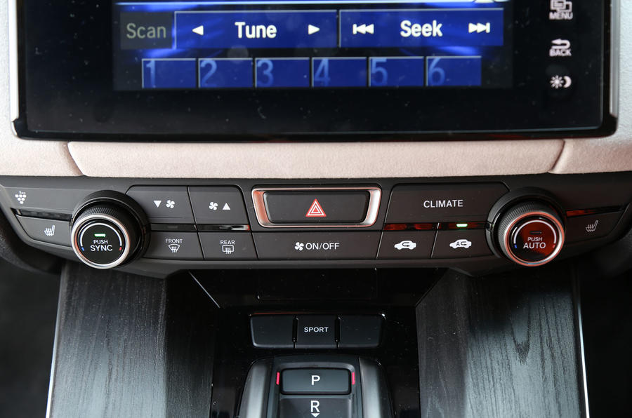 Honda Clarity FCV centre console