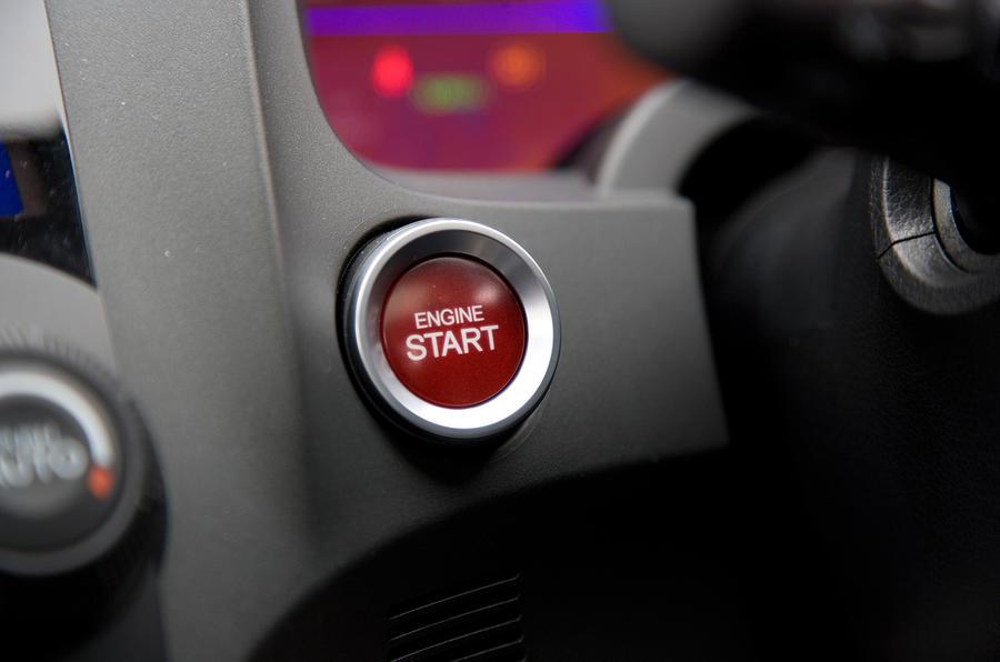 Honda CR-Z ignition button