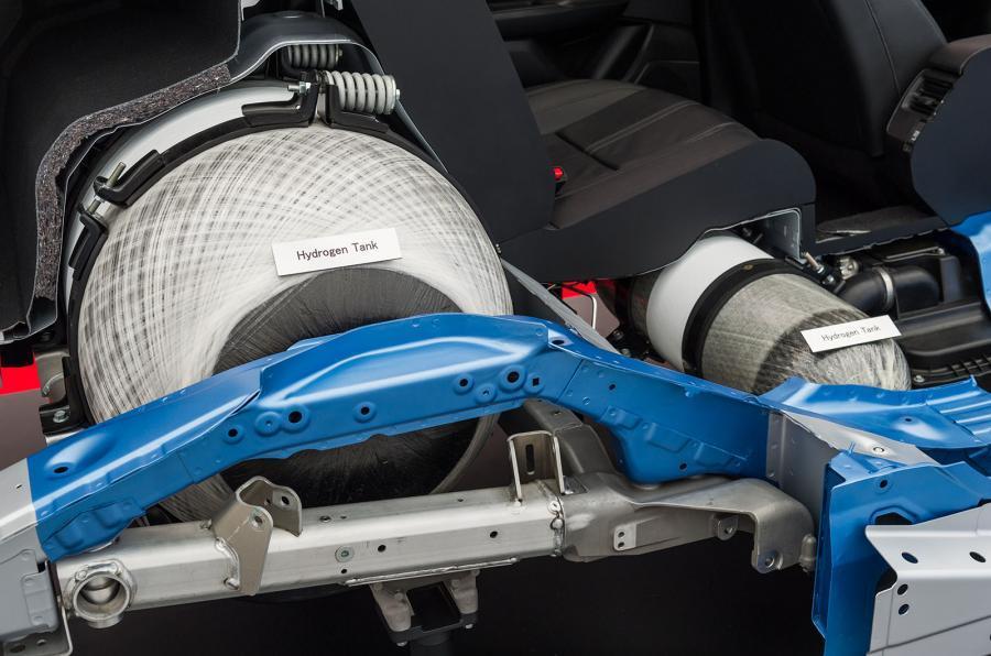 Honda FCV Clarity hydrogen tank