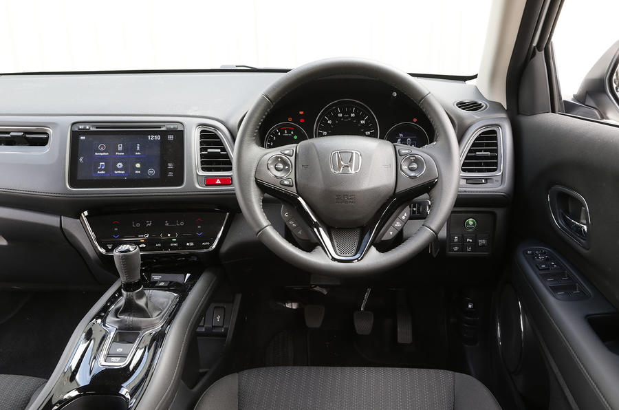 The view from the Honda HRV's driver's seat