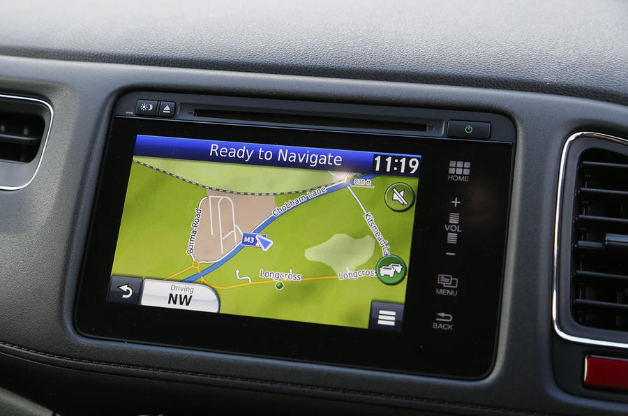 Our test HR-V also came fitted with the Honda Connect's sat nav