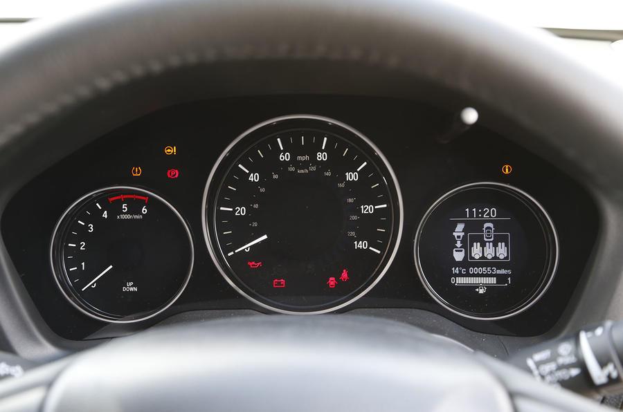 The instrument binnacle in the Honda HR-V