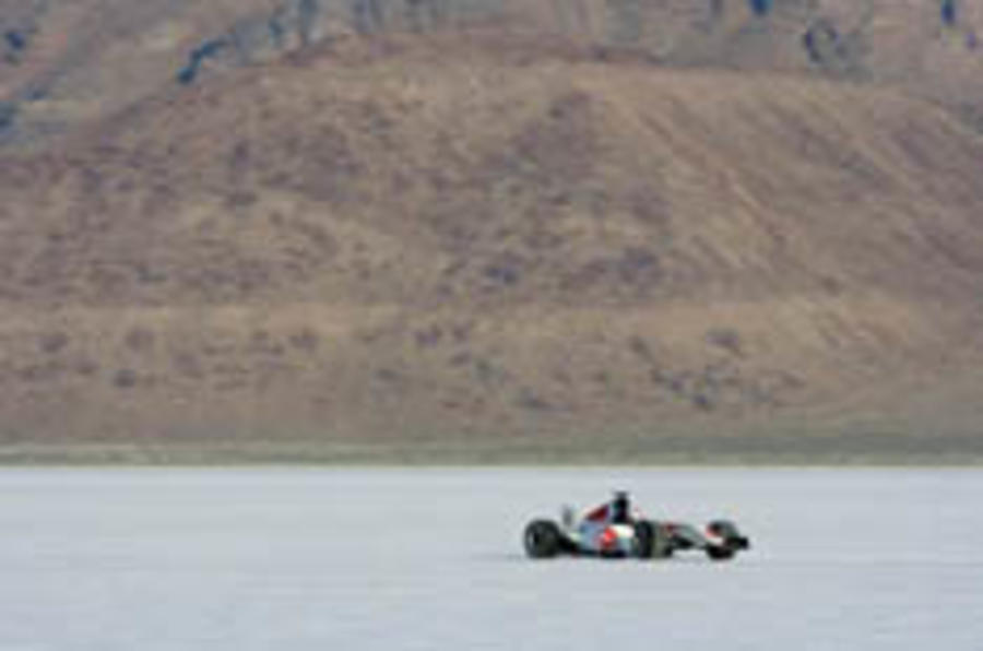 Honda close to Bonneville F1 record