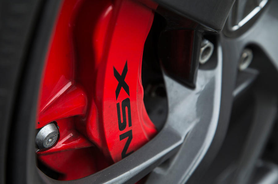 Honda NSX red brake calipers