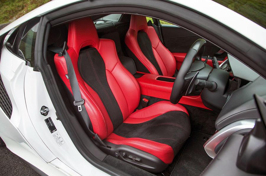 Honda NSX sports seats