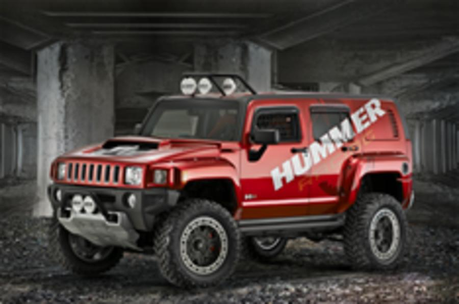 Smallest Hummer goes to the 'Vette