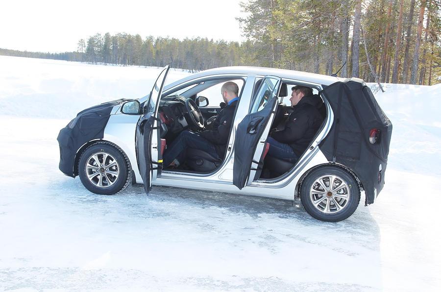 Hyundai i10 prototype doors open