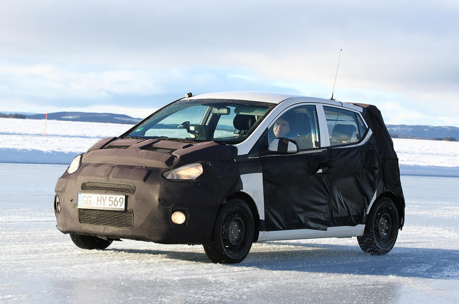 Hyundai i10 prototype on ice