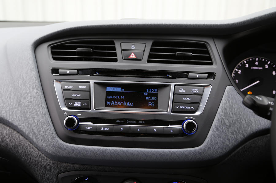 Hyundai i20 audio system