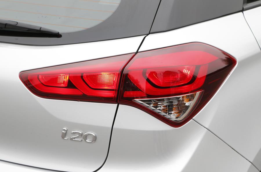 Hyundai i20 rear lights