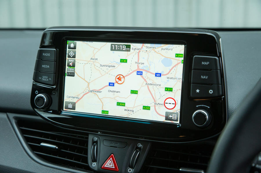 Hyundai i30 N infotainment system