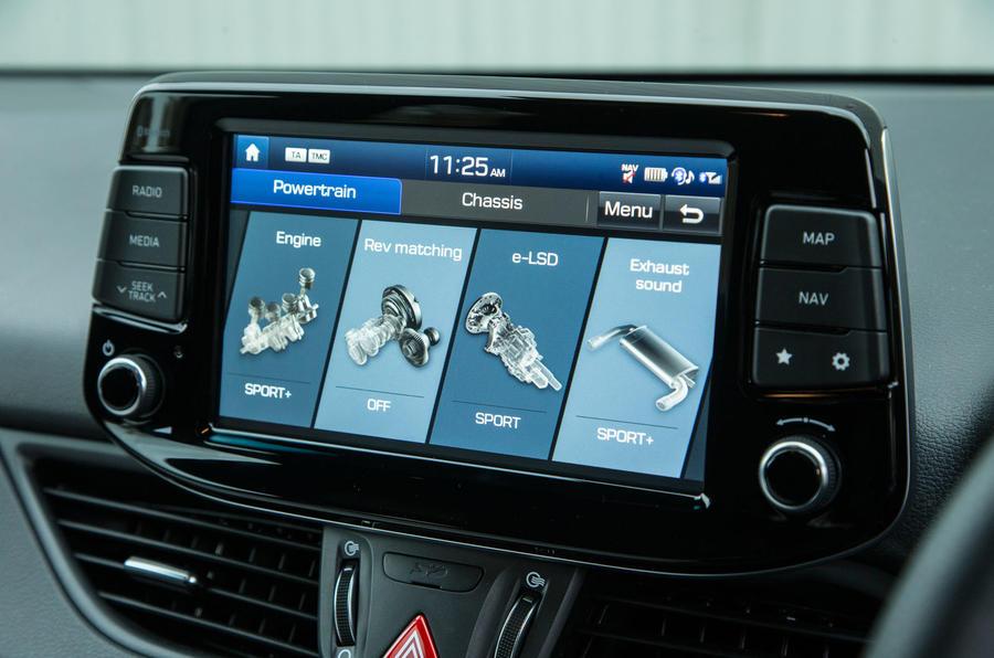 Hyundai i30 N personal configuration screen
