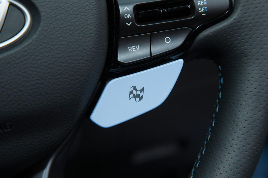 Hyundai i30 N race mode button