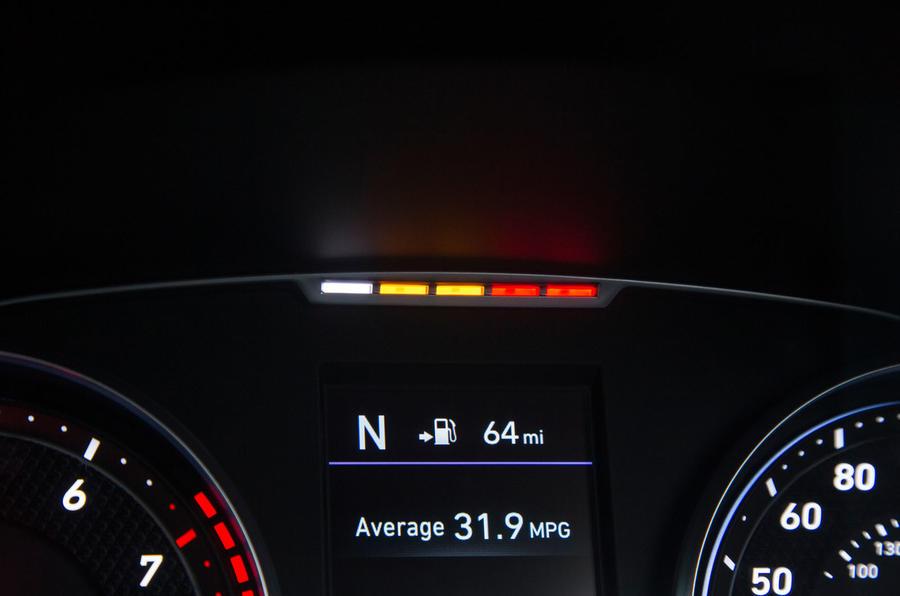 Hyundai i30 N rev counter