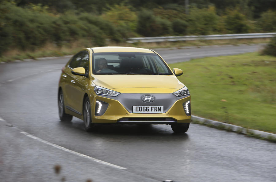 Hyundai Ioniq cornering