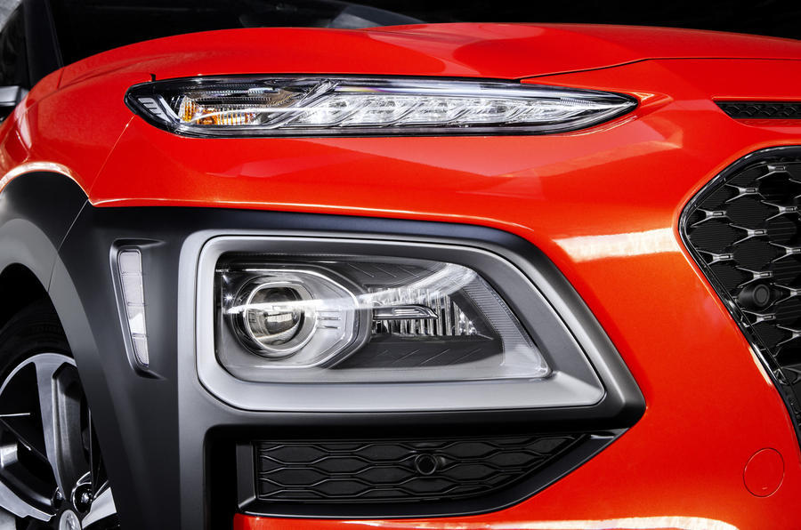 Hyundai Kona headlights