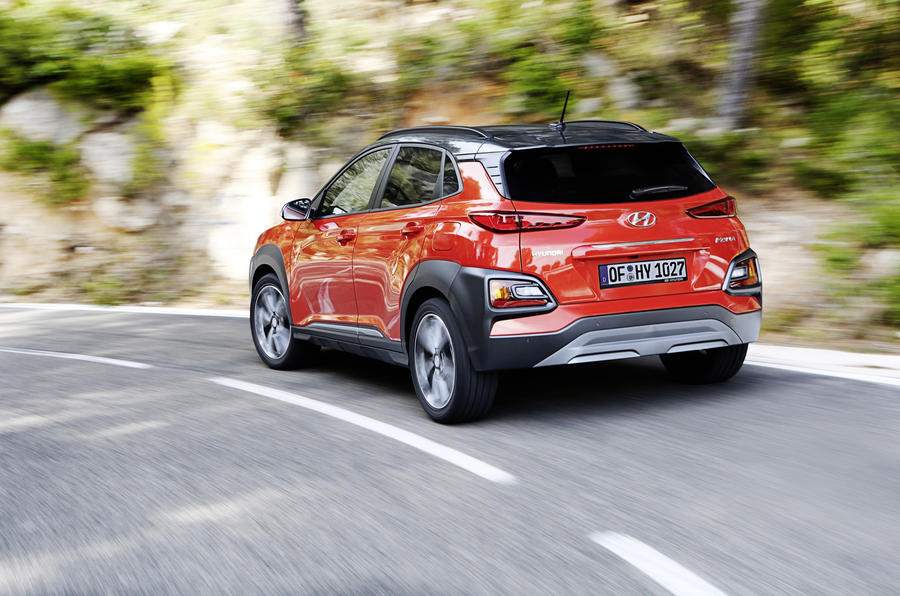 Hyundai Kona rear cornering