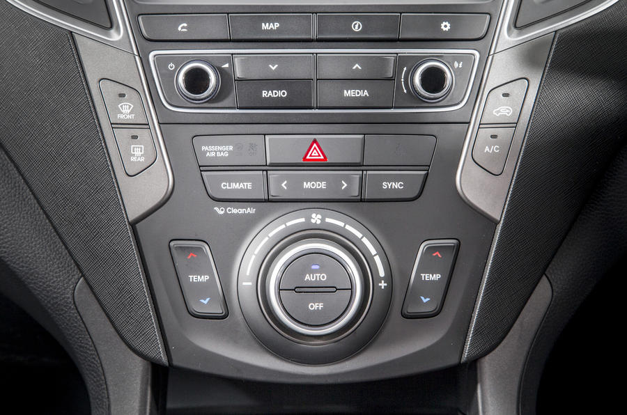 Hyundai Santa Fé climate controls