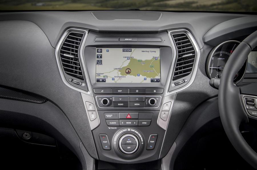 Hyundai Santa Fé infotainment system