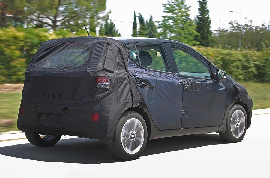 Hyundai i10 1.0-litre prototype rear