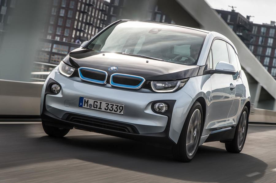 BMW i3 on road