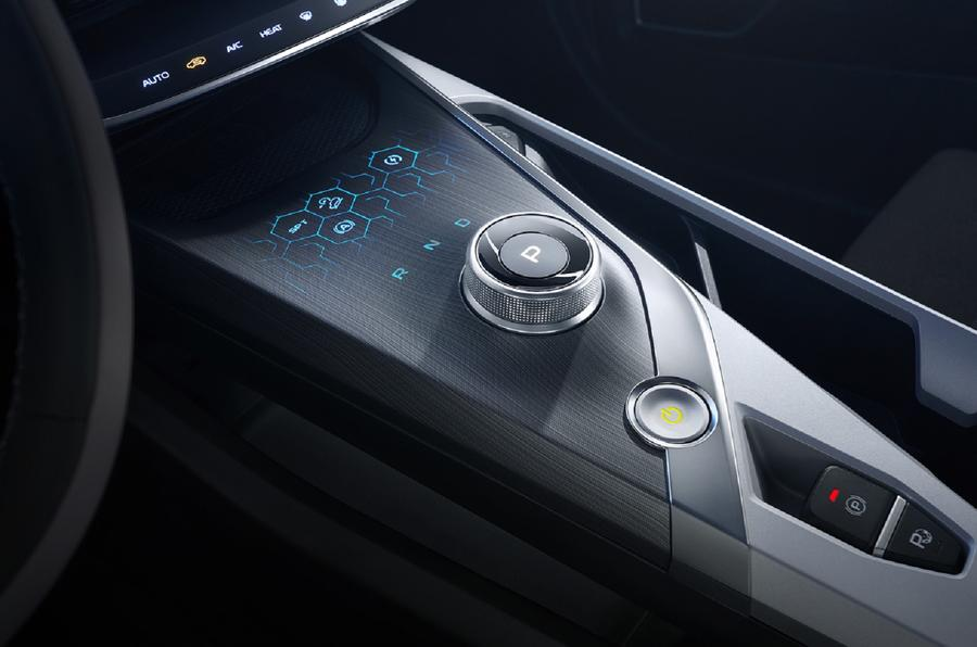 Geely Geometry A 2019 prototype drive - centre console