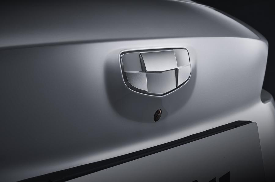 Geely Geometry A 2019 prototype drive - rear badge