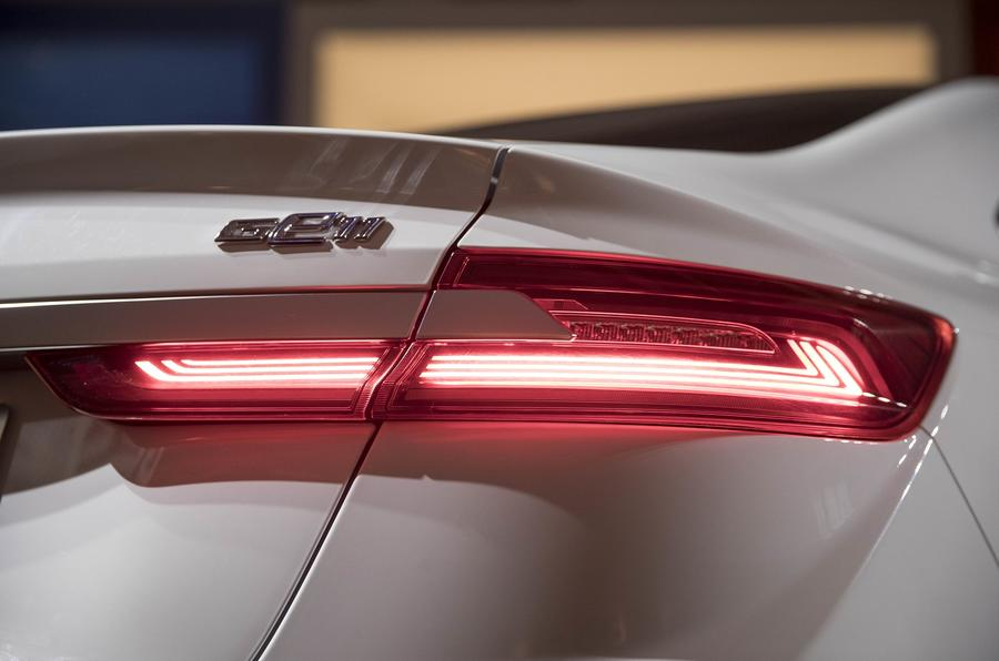 Geely Geometry A 2019 prototype drive - rear lights