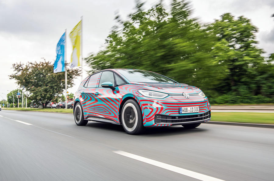 Volkswagen ID 3 2020 prototype review - on the road front