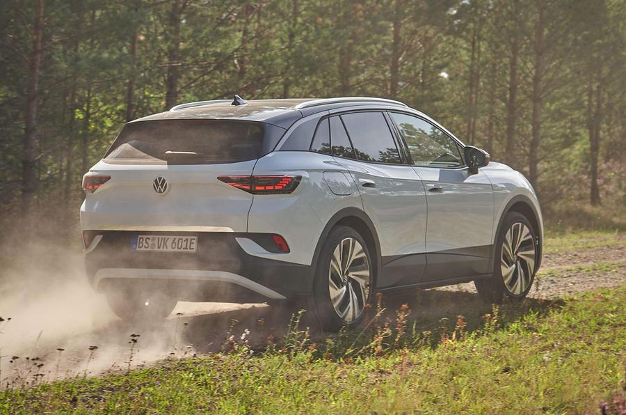 2021 Volkswagen ID 4 prototype drive - offroad rear