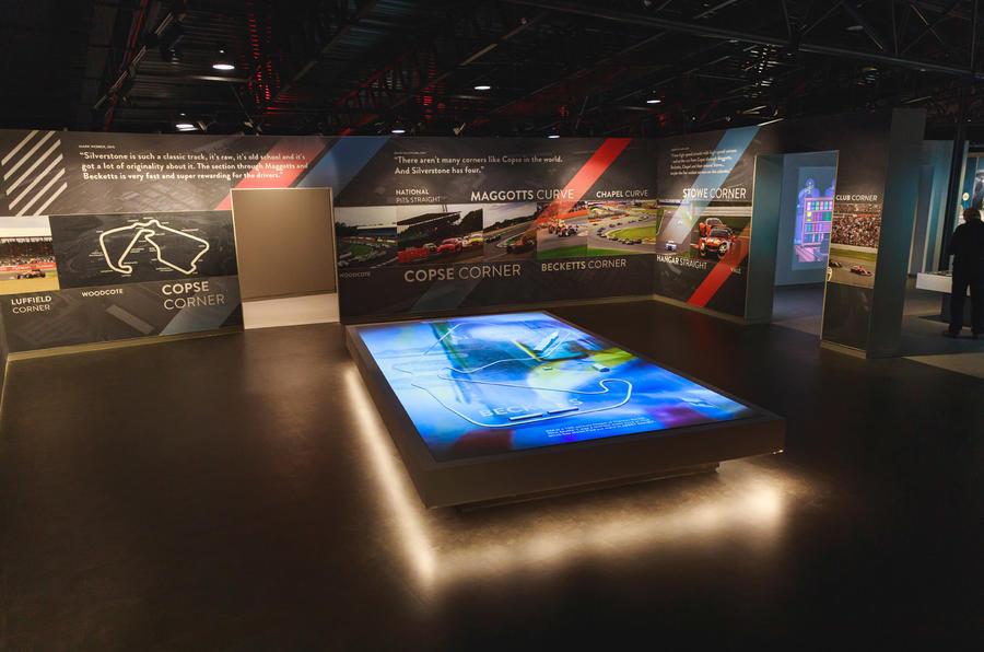 Silverstone museum display