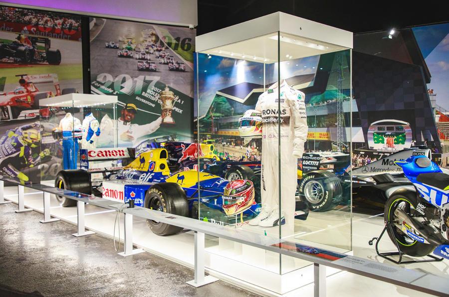 Silverstone museum Lewis Hamilton display