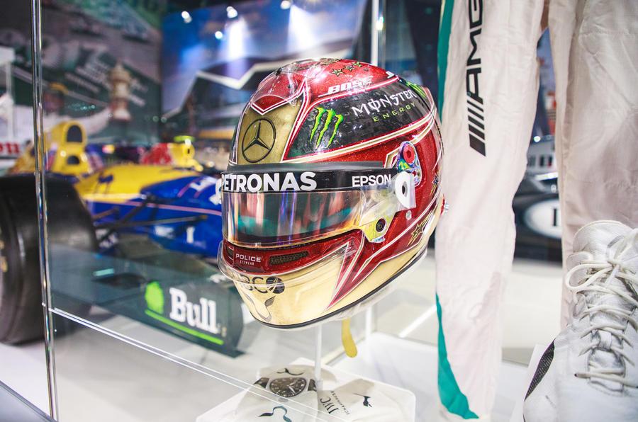 Silverstone museum Lewis Hamilton helmet