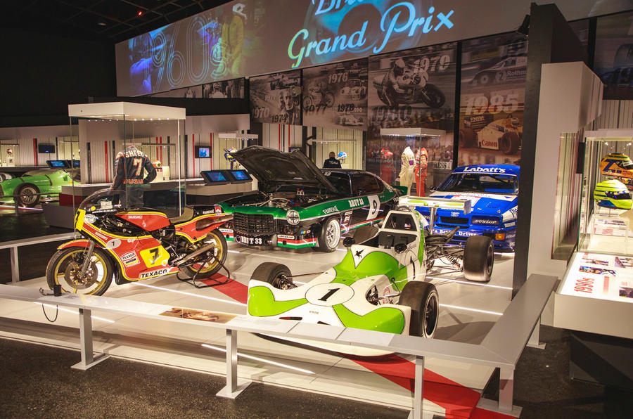 Silverstone museum race cars