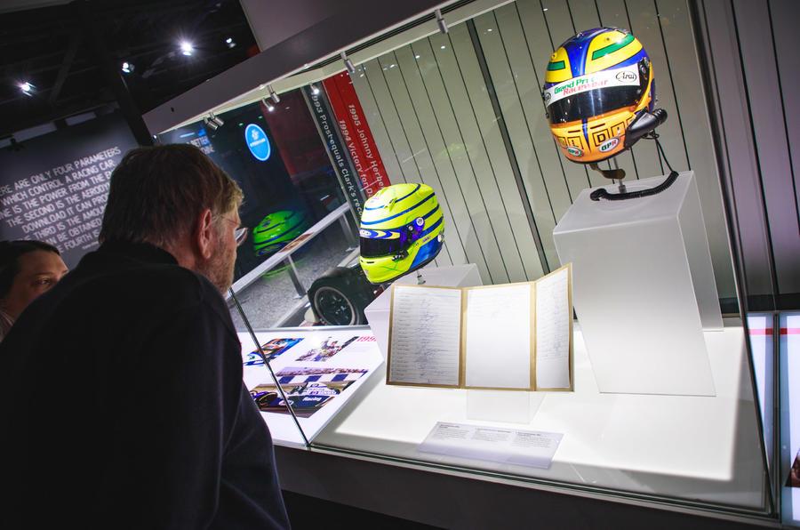 Silverstone museum race driver helmets