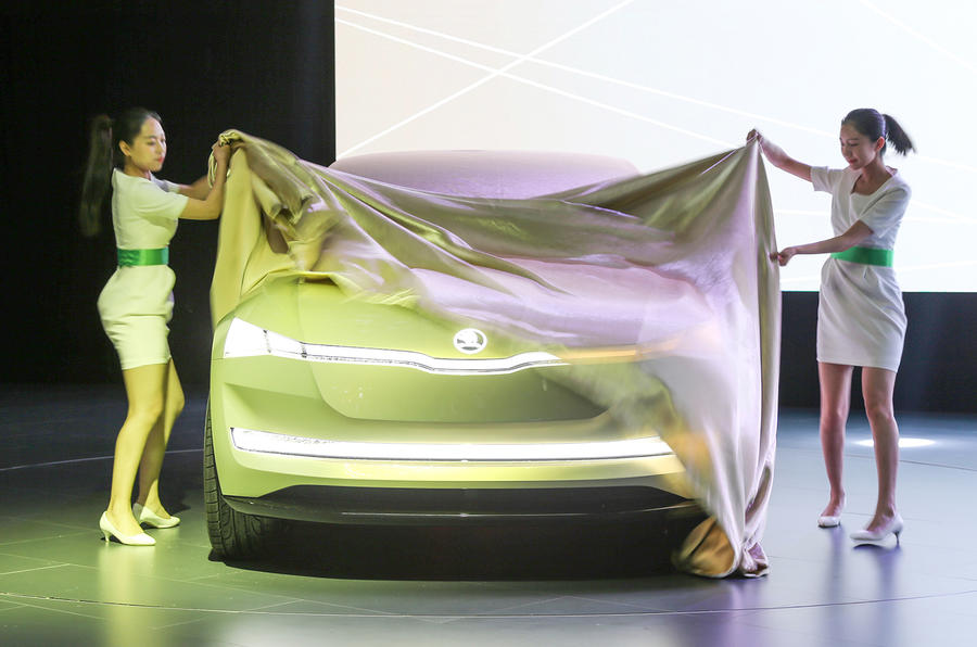 Skoda Vision E electric concept revealed in Shanghai