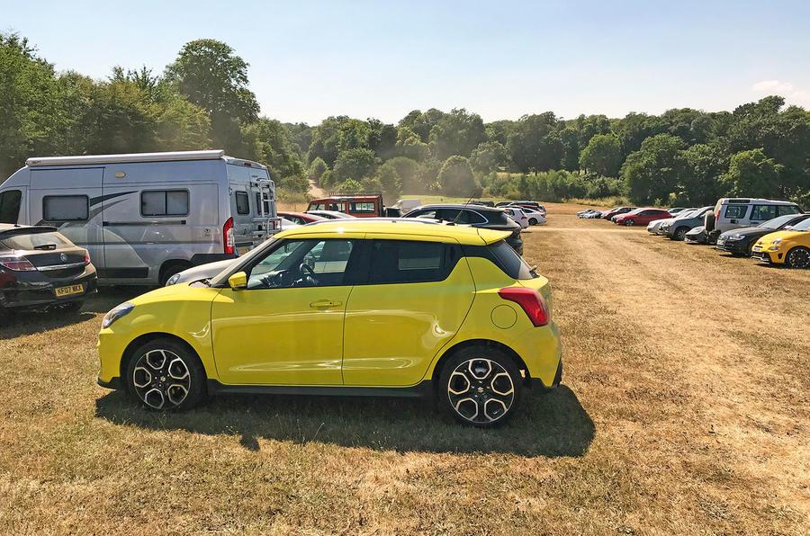 Suzuki Swift Sport 2018 long-term review Goodwood parking