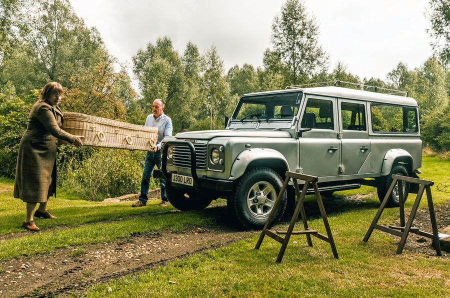 Defender hearse conversion - lead
