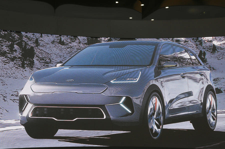 Kia's Niro EV concept is a battery-powered 201bhp small SUV