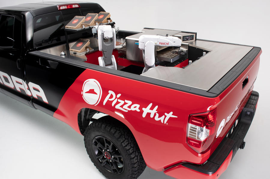 Toyota Reveals Hydrogen Powered Pizza Producing Pick Up