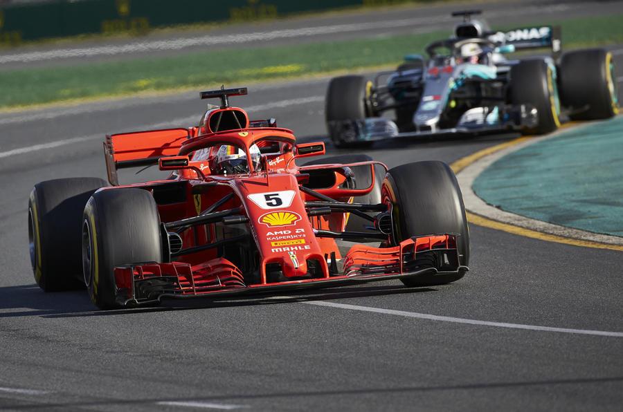 Australian GP Vettel Hamilton