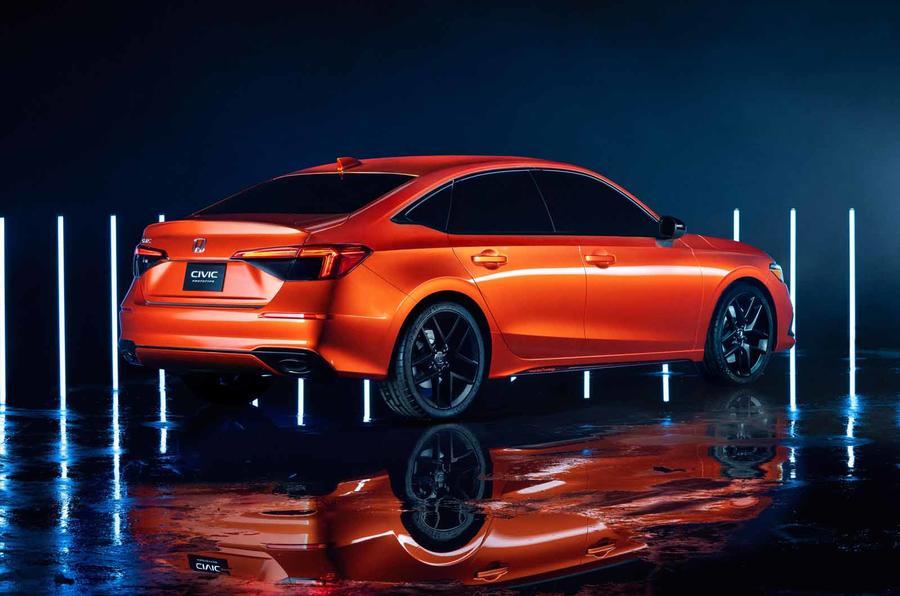 2022 Honda Civic prototype rear side